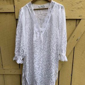 Vintage Christian Dior Nightgown Lace Lingerie
